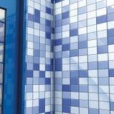 Azulejos y puerta azules del baño Imagen de archivo libre de regalías