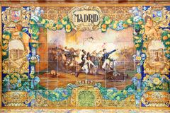 Azulejotegels van Madrid royalty-vrije stock foto's