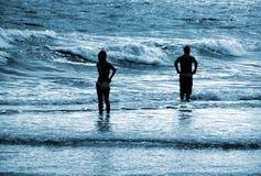 Azules de la playa Foto de archivo libre de regalías