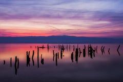 Azules de la puesta del sol Foto de archivo