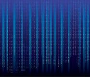 Azules del código binario ilustración del vector