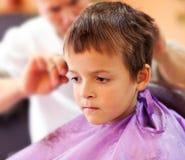 Azules del departamento de peluquero Fotografía de archivo libre de regalías