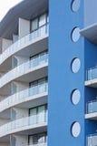 Azules del edificio Imagenes de archivo