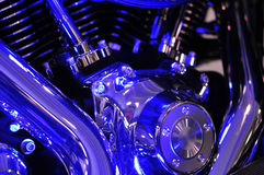 Azules del motor de la moto Imágenes de archivo libres de regalías