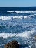 Azules del Océano Pacífico Fotografía de archivo