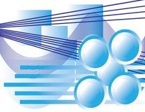 Azules geométricos Libre Illustration