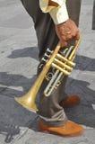 Azules y hombre de la música de jazz Fotografía de archivo libre de regalías