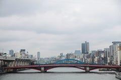 Azumabashi bridge Sumida river at Tokyo,Japan on April 1, 2017 Royalty Free Stock Images