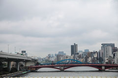 Azumabashi bridge Sumida river at Tokyo,Japan on April 1, 2017 Stock Photography