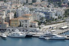 azur好棚d法国的港口 免版税库存图片