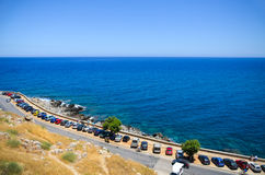 Azur blåtthav Arkivbild