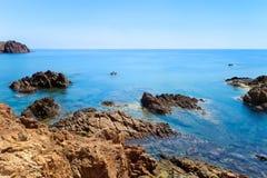 azur brzegowa cote esterel France Provence skała Obraz Stock
