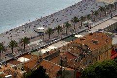 Azur coast beach, Nice, France Royalty Free Stock Photo