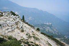 Azur francese del cote d del monastero di Gourdon delle alpi Fotografia Stock Libera da Diritti