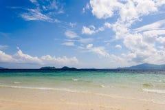 Azur hav Arkivfoton