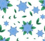 Azur sans couture de fleur de vecteur de modèle illustration de vecteur