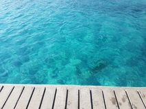 Azur sea. Wood stock images