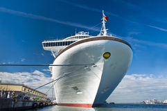 Azura cruise ship. P&O Azura cruise ship in dock - NOROVIRUS outbreak on ship Royalty Free Stock Photos