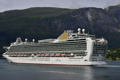 Azura cruise ship in Norway. Azura cruise ship in a fjord Norway Royalty Free Stock Photography