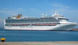 Large cruise ship in port Stock Photos