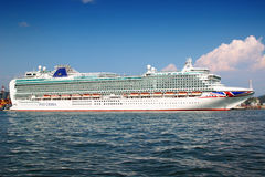 Azura liner. LA SPEZIA, ITALY - AUGUST 08, 2015: Cruise Azura liner in the port of La Spezia town, Liguria province, Italy. The Azura is the Cruises ship Stock Photo