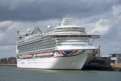 Azura ship in the Port of Southampton UK Royalty Free Stock Image