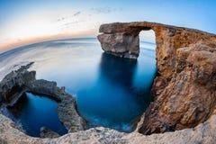 Azurblaues Fenster Malta Stockfoto