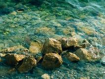 Azurblaues Meerwasser in Montenegro Lizenzfreies Stockfoto