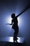 Azurblaues Schattenbild Stockbild