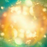 Azurblaues unscharfer Hintergrund des orange Lichtes bokeh Lizenzfreies Stockfoto