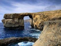 azure окно острова gozo Стоковое Изображение