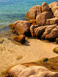 Azure. A wonderful beach in Sardinia royalty free stock image