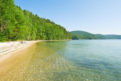 Azure bay in Baikal Royalty Free Stock Images