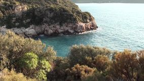 Azure bay top view 3 stock video