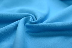 Azure blue cotton cloth Royalty Free Stock Images