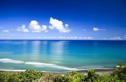 The azure blue sea Stock Photos