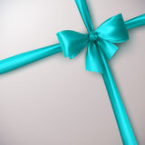 Azure Bow And Ribbon Fotografie Stock Libere da Diritti