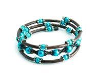 An azure bracelet isolated Stock Image