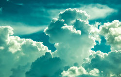 Azure clouds Royalty Free Stock Photos