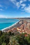 Azure Coast et Nice dans l'orientation de portrait photographie stock libre de droits