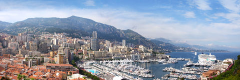 Azure coast of France,Monaco, Monte-Carlo Royalty Free Stock Images
