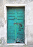 Azure door Stock Photo