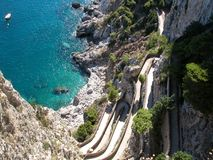 Azure Drop Capri. Capri drop, Italy Royalty Free Stock Photography