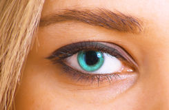 Azure eye Royalty Free Stock Image