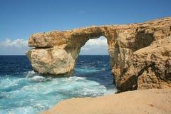 Azure fönster, Gozo Royaltyfria Foton