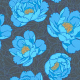Azure flowers seamless background Royalty Free Stock Photo