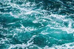 Azure foamy surface of the sea Stock Photos