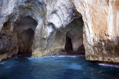 Azure grotto. An Azure grotto, Palinuro, Italy Stock Images