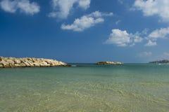 azure hav Arkivfoto