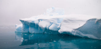 Azure Iceberg - Paradise Bay, Antarctic Peninsula Stock Photo